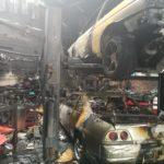 پایان غم انگیز نیسان های GT-R در آتش سوزی carera.ir 965 33836155