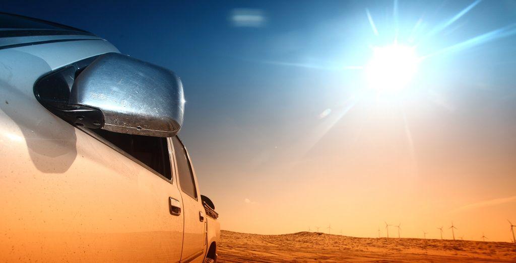 پارک کردن خودرو در زیر آفتاب