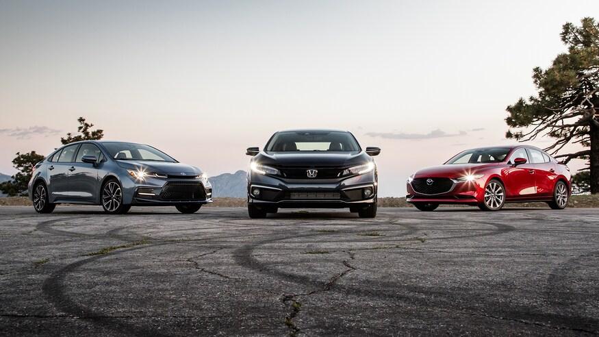 مزدا 3 مدل 2019، تویوتا کرولا 2020 و هوندا سیویک 2019