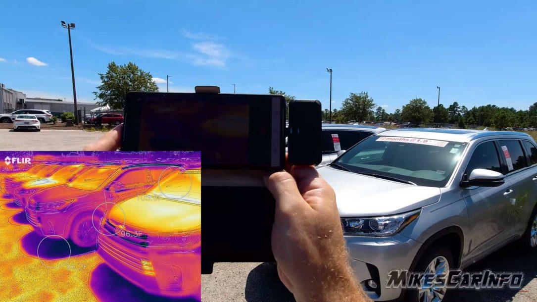تفاوت دمای خودروی تیره و روشن زیر آفتاب