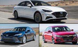 مقایسهی مدل 2020 هیوندای سوناتا، تویوتا کمری و هوندا آکورد