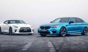 درگ BMW M5 و نیسان GT-R