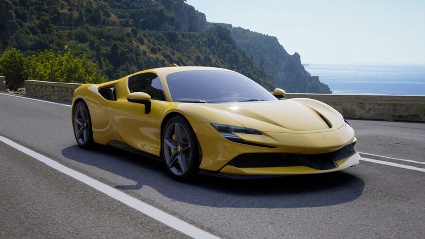 10 خودروی خارقالعاده که ما را به آینده امیدوار میکند Alex Nishimoto Ferrari SF90 Dream Spec Yellow Front View 1