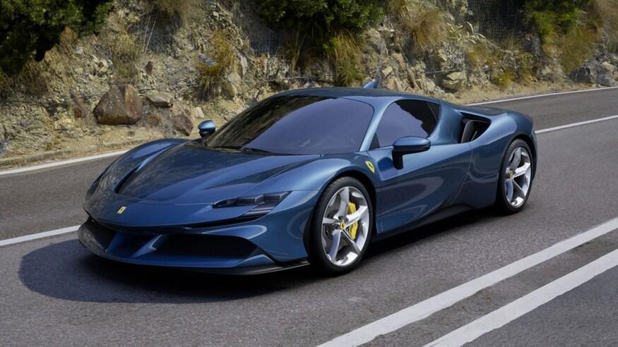 10 خودروی خارقالعاده که ما را به آینده امیدوار میکند Stefan Ogbac Ferrari SF90 Dream Spec Blu Pozzi Front View