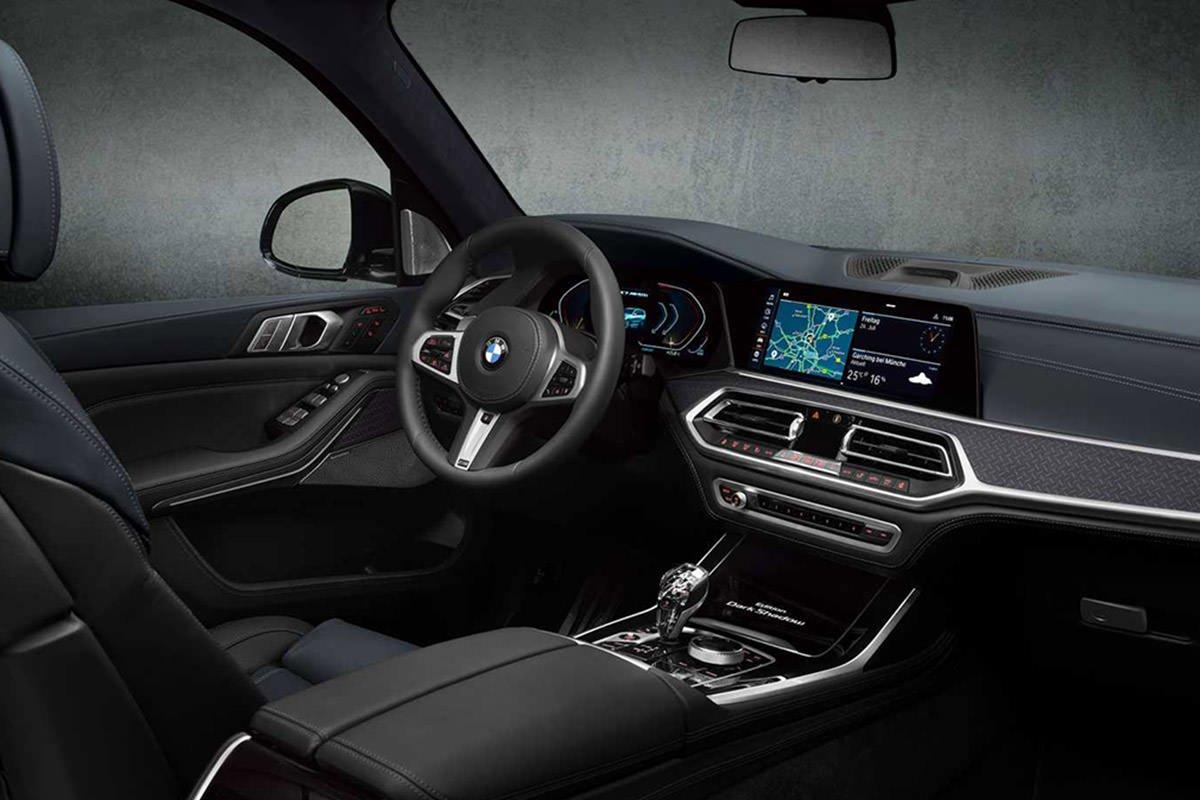 کابین کراس اور / crossover بی ام و ایکس 7 نسخه دارک شادو / BMW X7 Dark Shadow Edition سیاه رنگ